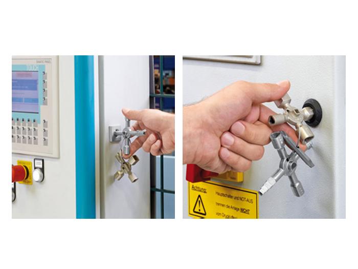 Llave seguridad para armarios knipex twinkey 00 11 01 - Armarios para llaves ...