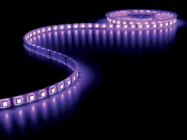 Ruban à LED Autocollant RGB - IP65 - 300 LEDs 5050 par Rouleau - 5 m - MJ-7C5050FS30-F12W10