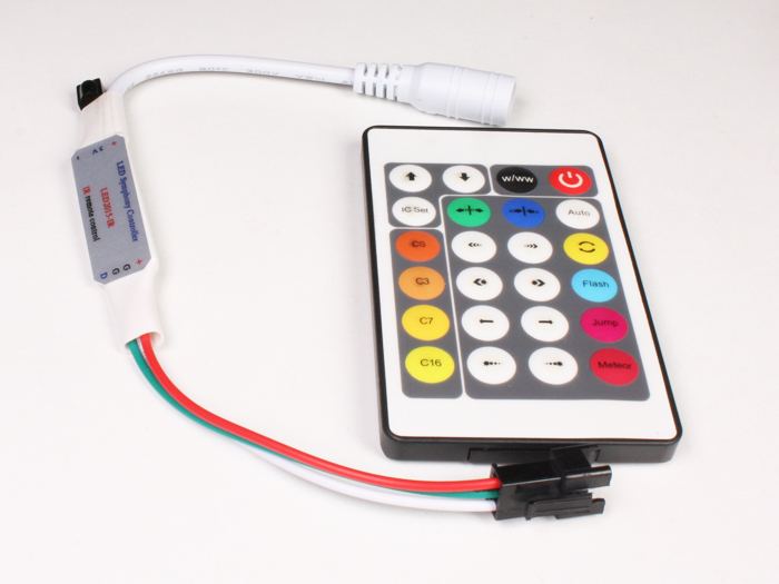 WS2812, WS2811, Neopixel Controller - with Remote Control - ABQ000020