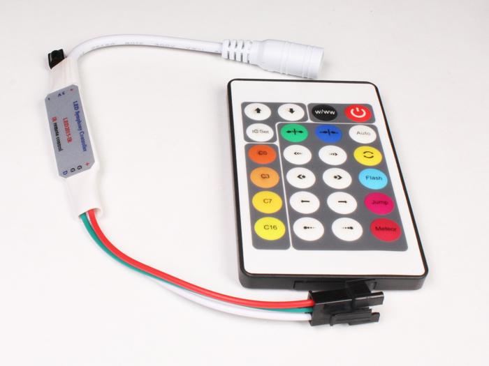 Contrôleur WS2812, WS2811, Neopixel - avec Télécommande - ABQ000020