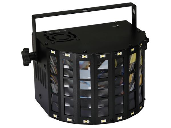 ASTAR III - TRIPLE DERBY 4 x RGBW 3 W - CONTROLADO POR DMX