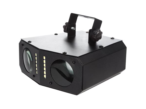 HQ Power Dual Colour Beam - Efecto 2 Rayos Coloreados 54 LEDs RGB + 12 LEDs Blancos para Estroboscopio - HQLE10009