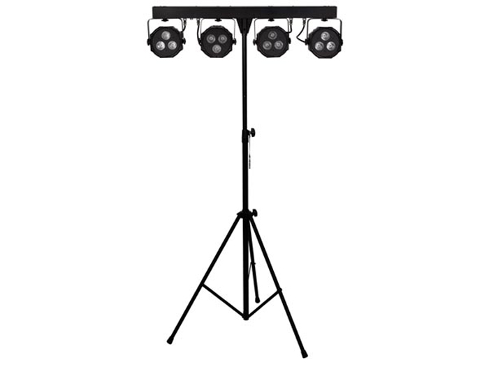 Velleman Bundlebar - Mini PAR LED Light Set - 12 a LED COB RGB 9 W - with Tripod - VDPLDJBAR8