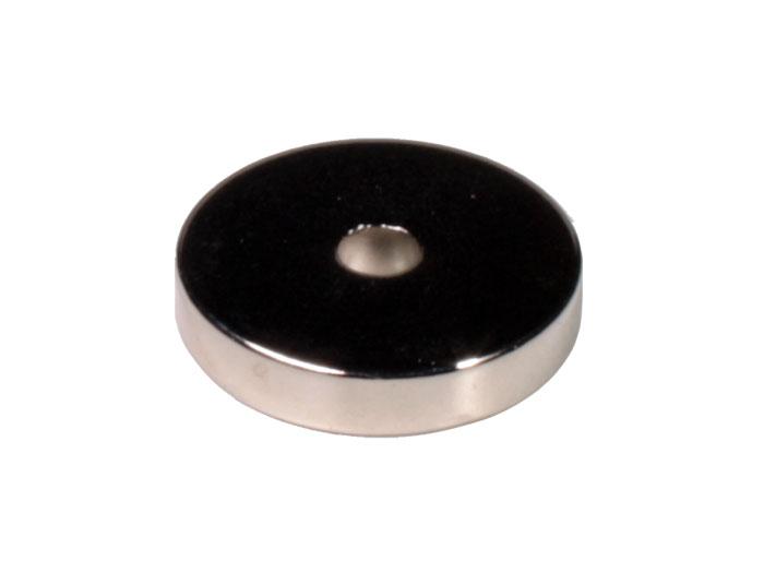 Imán de Neodimio - Anillo Ø30 - Ø6 x 6 mm - N40 - N40 RING D30-6*6 Ni