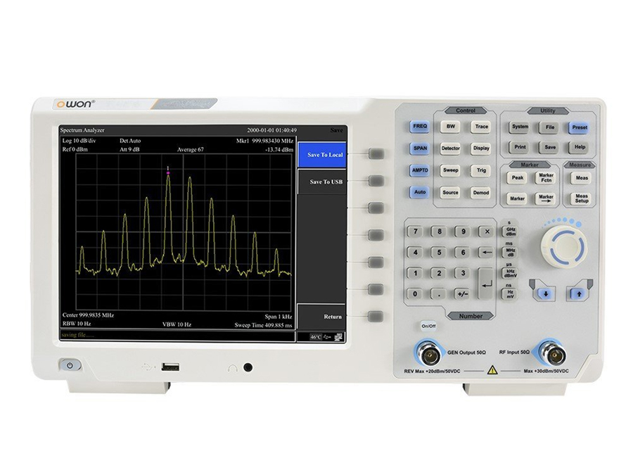 Owon XSA1015-TG - Spectrum Analyser with Tracking Generator - 9 Khz - 1.5 GHz - 10,4