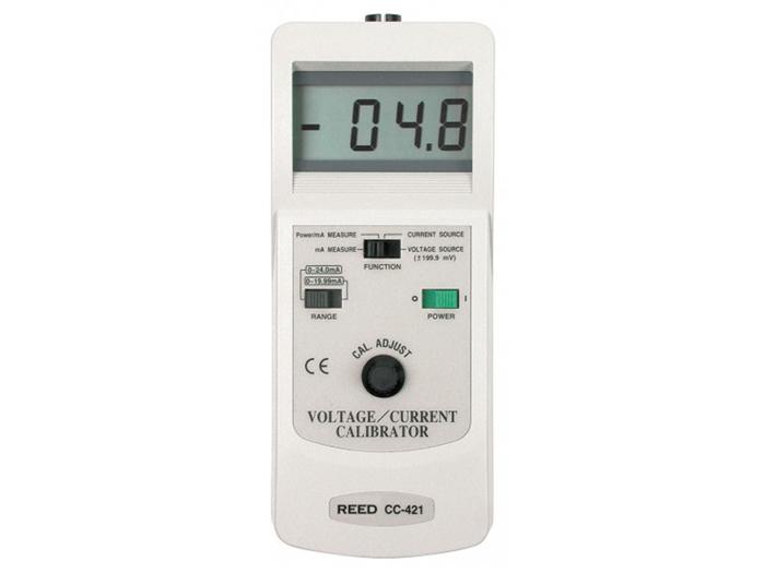Calibrador de tensão e corrente CC421