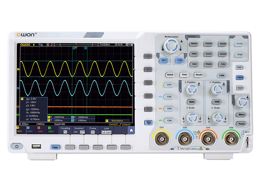 OWON XDS3104E - 4 channel 100 MHz oscilloscope