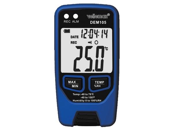 Enregistreur de données Thermiques et de taux d'humidité avec Port USB - - DEM105 - DEM105
