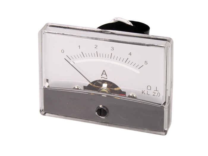 Analogue Current Panel Meter 60 x 47 mm - 5 A ac