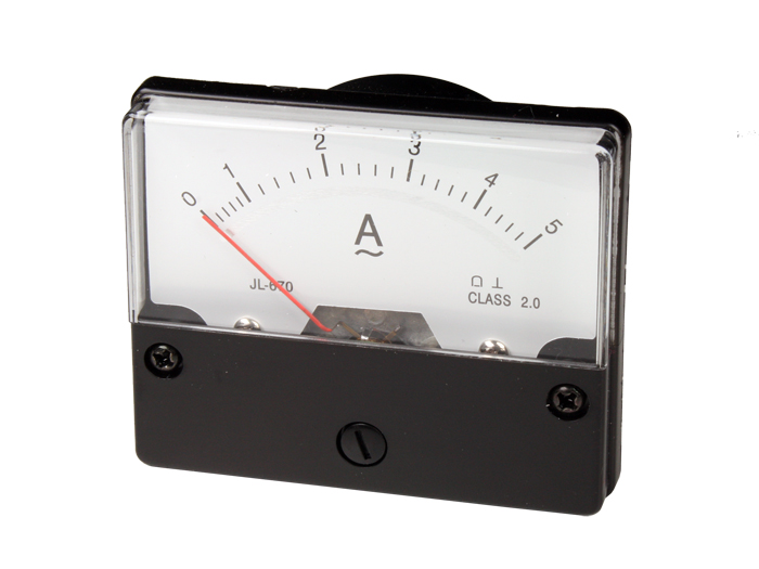 Analogue Current Panel Meter 70 x 60 mm - 5 A ac