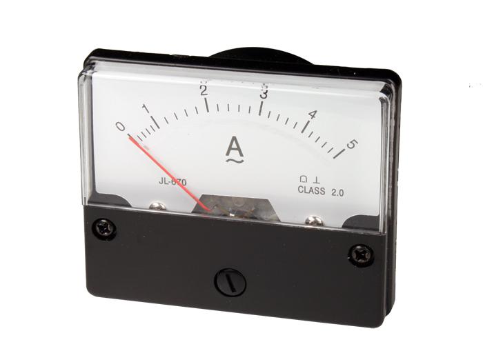Instrumento Painel Amperímetro Analógico 70 x 60 mm - 5 A ca