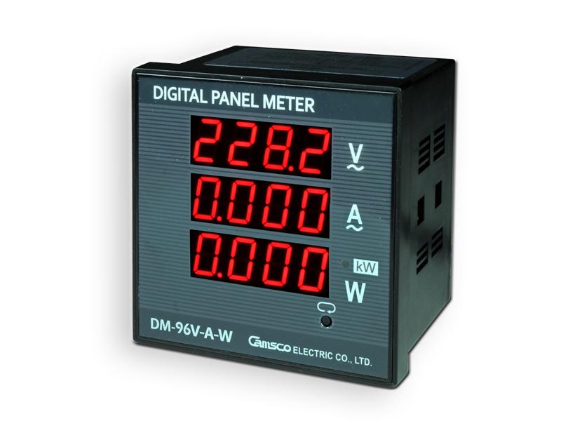 Voltmètre - Amperemètre - Wattmètre Numérique de Tableau