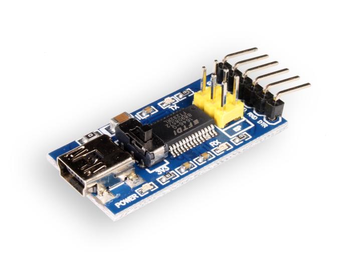 MODULO ADAPTADOR USB A SERIE FTDI BASIC 5V/3,3V