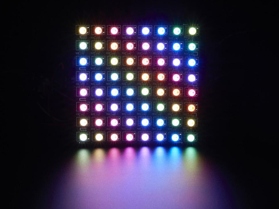 NEOPIXEL flexible LED matrix display module 8 x 8 - 64 x WS2812 5050 RGB