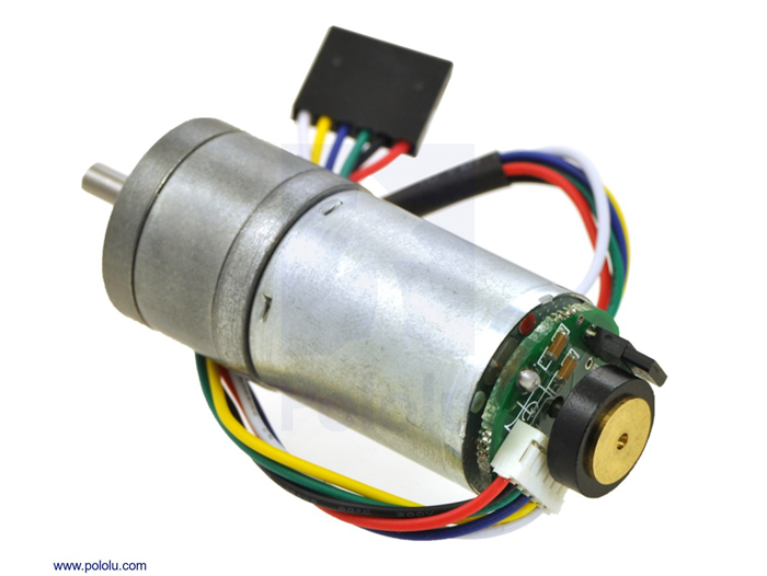 DC Motor 25 x 52 mm 12 V - 220 rpm - Encoder 48 CPR - 34:1 - 3240