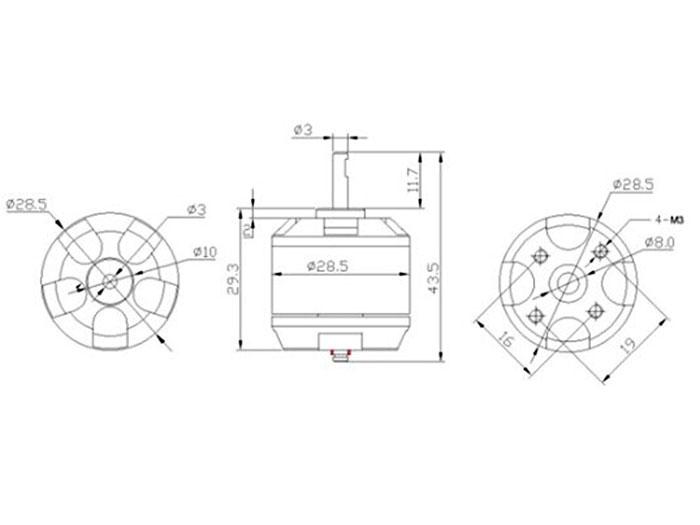 High Power DC Motor 12 V DC 1400kv - Brushless - 108990010