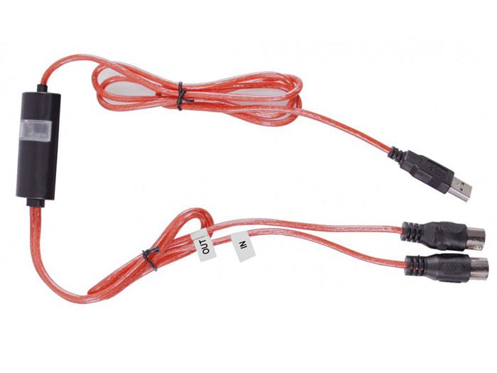 Interface conversor bi-direcional USB A MIDI