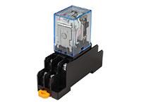 LY2NJ - Medium Power Relay DPDT 2 CO 230 V and DIN Rail Socket
