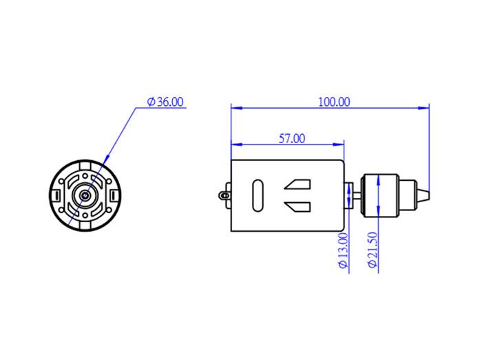 Makeblock CNC - Motor 24 V - 10000 rpm - 81310