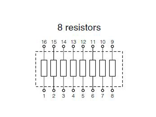 DIL16 Resistor NetworK and array 10 Ohms - 4116R-1-100LF