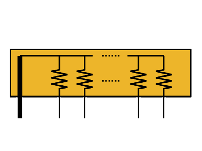 SIL Resistor NetworK and array 8+1 common 100 Ohms