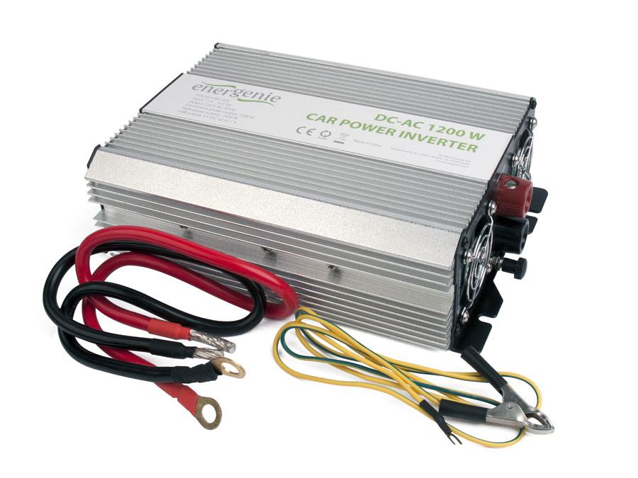 Inversor DC-AC onda senoidal modificada 1200 W - 12 V - EG-PWC-035