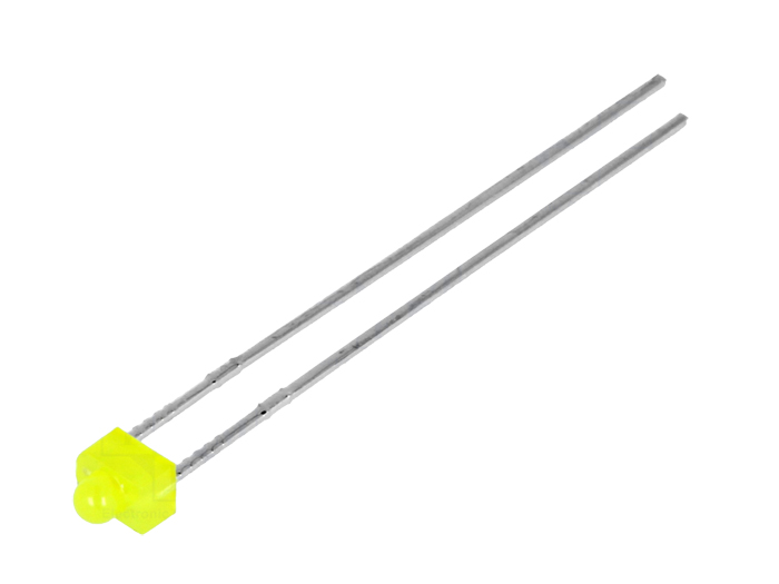 Diodo LED 1,8 mm difuso amarelo