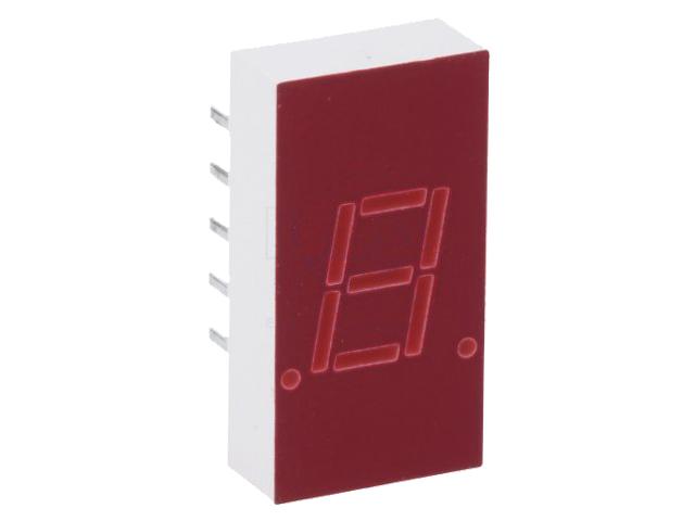 DISPLAY LED 7 SEGMENTOS CATODO COMUN 7,6MM ROJO - AVAGO (BROADCOM) 5082-7613 - HDSP-3533