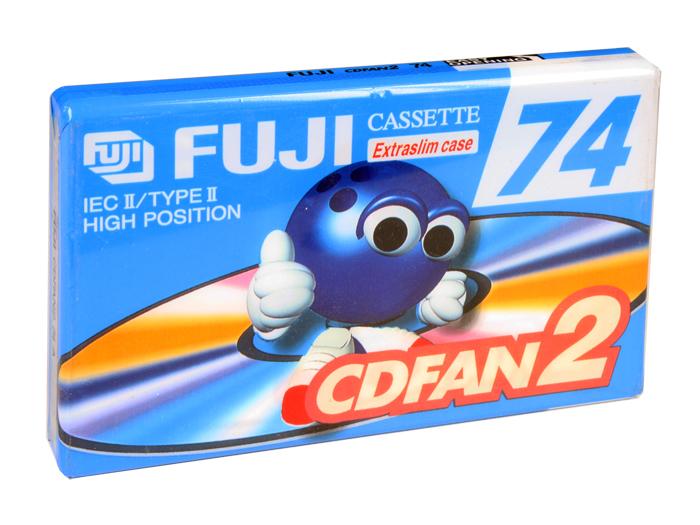 CINTA DE CASSETTE VIRGEN FUJI CDFAN2 74 A - 74 minutos TYPE II