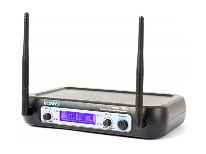 2 channel VHF wireless microphone transmitter