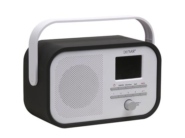 DAB-40BLACK - RADIO DAB+/FM RADIO CON SOPORTE PARA PRESENTACIÓN DAB - COLOR NEGRO