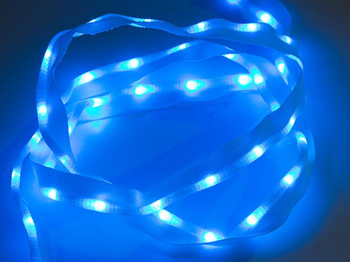 Sparkfun COM-14138 - Tejido Cinta de Led Cosible 50 Leds - 1 Metro Azul