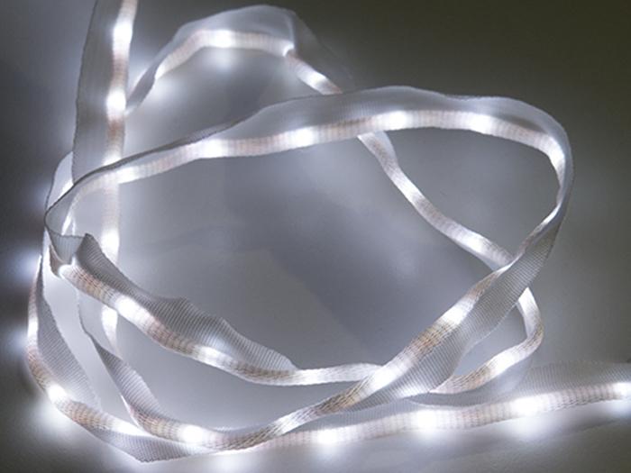 TEJIDO CINTA DE LED COSIBLE 50 LEDS 1 METRO BLANCA