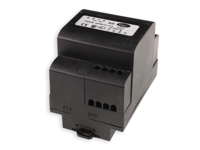 Transformateur à Montage sur Rail DIN - 15 W - 9 V + 9 V