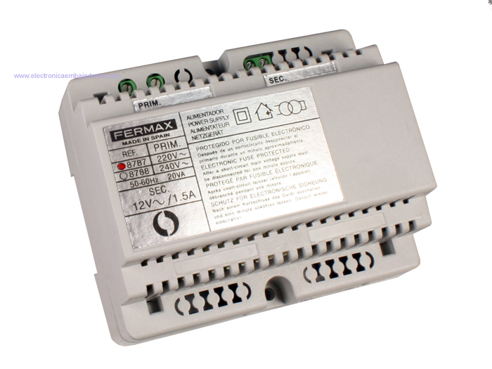 Transformador trilho DIN 18 W - 12 V - FERMAX 8787