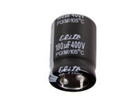 SNAP IN Radial Electrolytic Capacitor - 180 µF - 400 V - 105°C - LGU2G181MELA