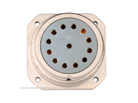 BHE40B13 (C9202413ABS) - 13 contacts female receptacle size 40 circular connector