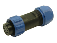 CONECTOR ESTANCO CLIFFCON 68 HEMBRA AEREA 9 CONTACTOS - IP 68 - FM686819 - SP1310/S9