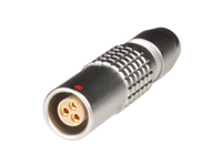 Lemo series 0b - phg.0b.303.clld52 - 3 contacts female cable-mount connector