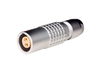Lemo series 1b - phg.1b.302.clad52 - 2 contacts female cable-mount connector