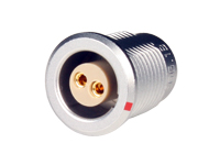 Lemo series 1b egg.1b.302.cll - 2 contacts female panel-mount connector