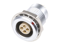 Lemo series 1b egg.1b.304.cll - 4 contacts female panel-mount connector