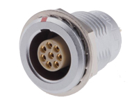 Lemo series 1b egg.1b.308.cll - 8 contacts female panel-mount connector