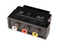Adaptador EURO Conector Hembra - Macho - 3 RCA - Bidireccional