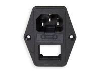 IEC 60320 C14 pannel Mount Male Plug with Fuse Holder without Switch