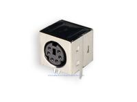 Conetor mini-DIN Base Circuito Impresso Fêmea 6 Pinos - 10.635/6