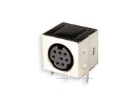 Conetor mini-DIN Base Circuito Impresso Fêmea 8 Pinos - 10.635/8