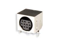 Conetor mini-DIN Base Circuito Impresso Fêmea 9 Pinos - 10.635/9