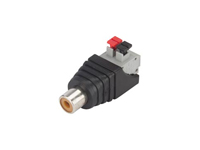 Plastic Straight Cable-Mount RCA Female Connector with spring Terminal - CV048