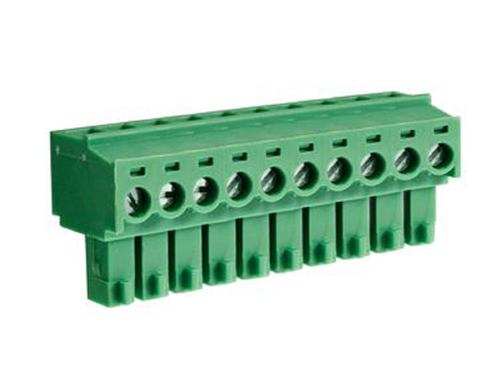 3.81 mm Pitch - Pluggable Right Angle PCB Female Terminal Block 10 Contacts - CTB922HE-10